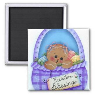 Gingerbread Baby Easter Blessings Magnet