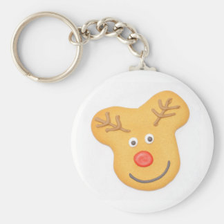 Gingerbread Basic Round Button Key Ring