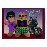 Gingerbread bikers greeting card