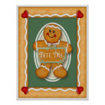 Gingerbread  Bite Me Poster