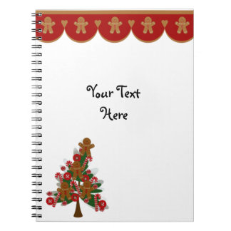Gingerbread Border and Christmas Tree Notebook