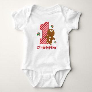 Gingerbread Boy 1st Birthday Baby Bodysuit
