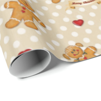 Gingerbread Boy and Girl 2 Wrapping Paper