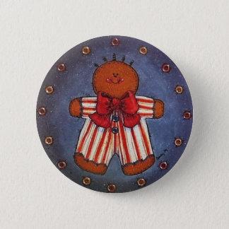 Gingerbread Boy Button Pin