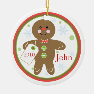 Gingerbread Boy Christmas Ornament