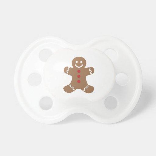 Gingerbread Boy Baby Pacifier