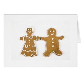 Gingerbread Boy Girl Greeting Cards