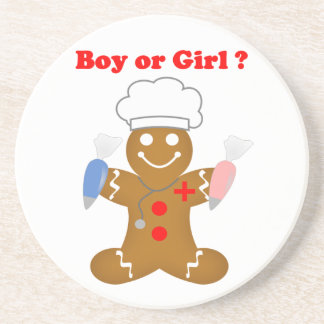 Gingerbread Boy or Girl Beverage Coasters
