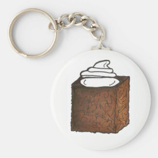 Gingerbread Cake Slice Christmas Baking Holiday Key Ring