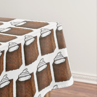 Gingerbread Cake Slice Christmas Baking Holiday Tablecloth
