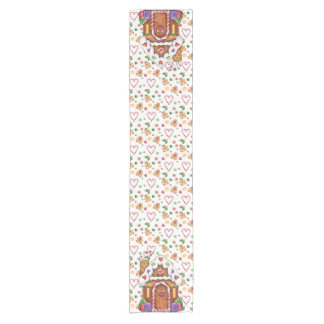 Gingerbread Candy House Table Runner
