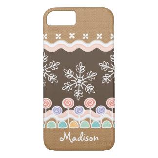 Gingerbread Candyland Winter Wonderland iPhone 8/7 Case