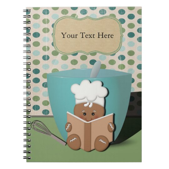 Gingerbread Chef, Customisable Spiral Notebook
