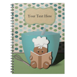 Gingerbread Chef, Customizable Notebook