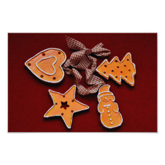 Gingerbread Christmas cookies decorations Photograph