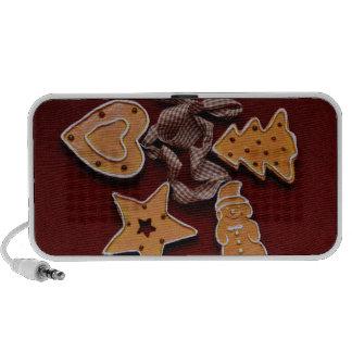Gingerbread Christmas cookies decorations Laptop Speakers