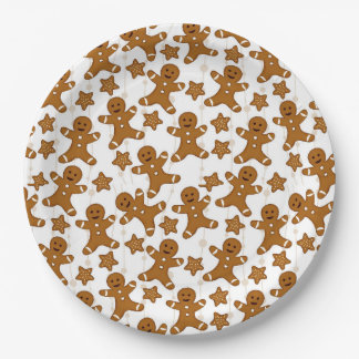 Gingerbread Christmas Paper Plates
