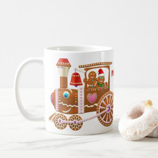 Gingerbread Christmas Train Coffee Mug