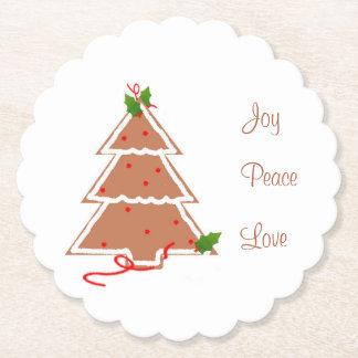 Gingerbread Christmas Tree Coasters