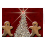 Gingerbread Christmas Tree Greeting Card