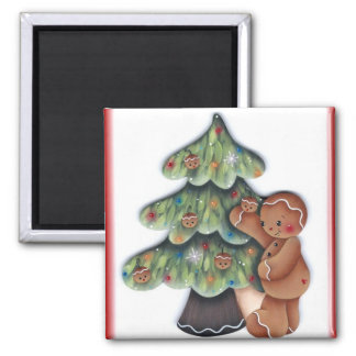 Gingerbread Christmas Tree Magnet