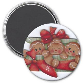 Gingerbread Christmas Trio Magnet