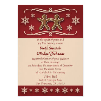 Gingerbread Christmas Wedding Invitation