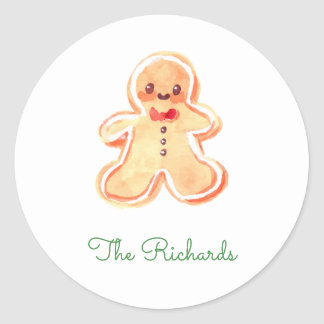 Gingerbread Classic Round Sticker