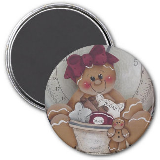 Gingerbread Cookie Baker Magnet