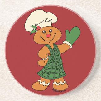 Gingerbread Cookie Beverage Coaster