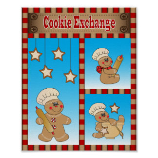 Gingerbread Cookie Exchange Poster