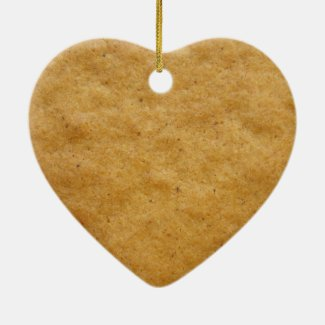 Gingerbread cookie heart shaped - cinnamon