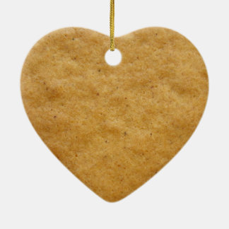 Gingerbread cookie heart shaped - cinnamon christmas ornament