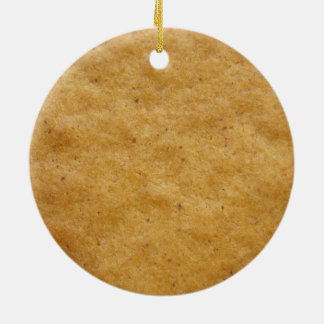 Gingerbread cookie round shaped - cinnamon christmas ornament