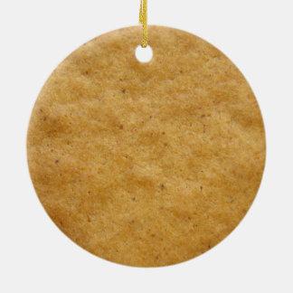 Gingerbread cookie round shaped - cinnamon round ceramic decoration