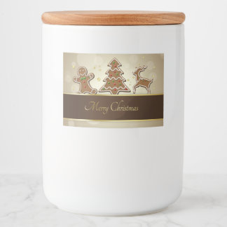 Gingerbread Cookies - Food Container Label