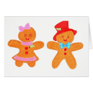 gingerbread cookies greeting card