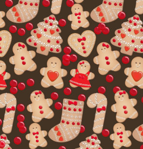 Gingerbread Cookies Holiday Cookie Christmas Shower Curtain