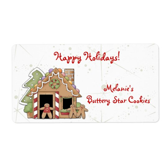 Gingerbread Cookies Label Shipping Label