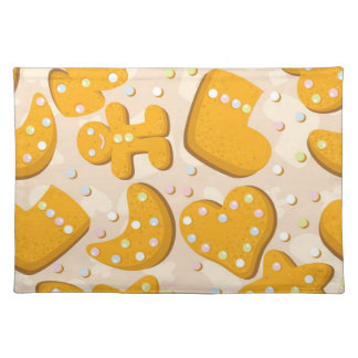 Gingerbread cookies placemat