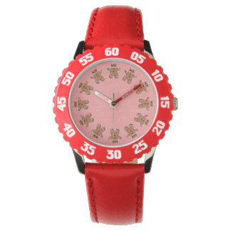Gingerbread  Cookies Red Watch