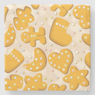 Gingerbread cookies stone coaster