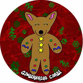 Gingerbread Corgi Christmas Ornament Photo Cut Out
