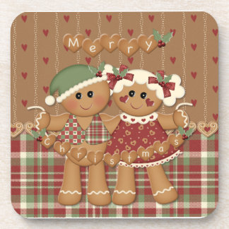 Gingerbread Country Christmas Drink Coaster