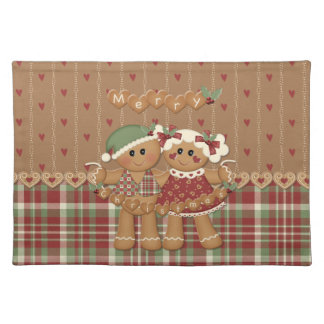 Gingerbread Country Christmas Placemat