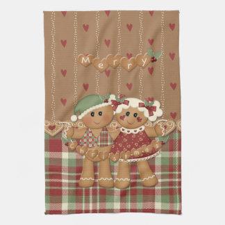 Gingerbread Country Christmas Tea Towel