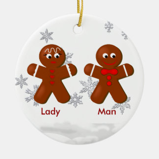 Gingerbread Couple Christmas Ornament