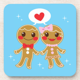 Gingerbread Couple Drink Coasters