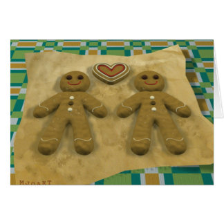 Gingerbread couple - gay card