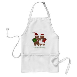 Gingerbread Couple Happy Holidays Apron